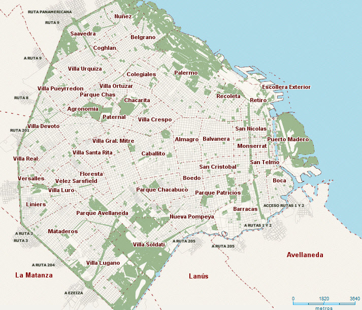 Relocating and Living in Argentina M Topics – Tourist Map Of Buenos Aires